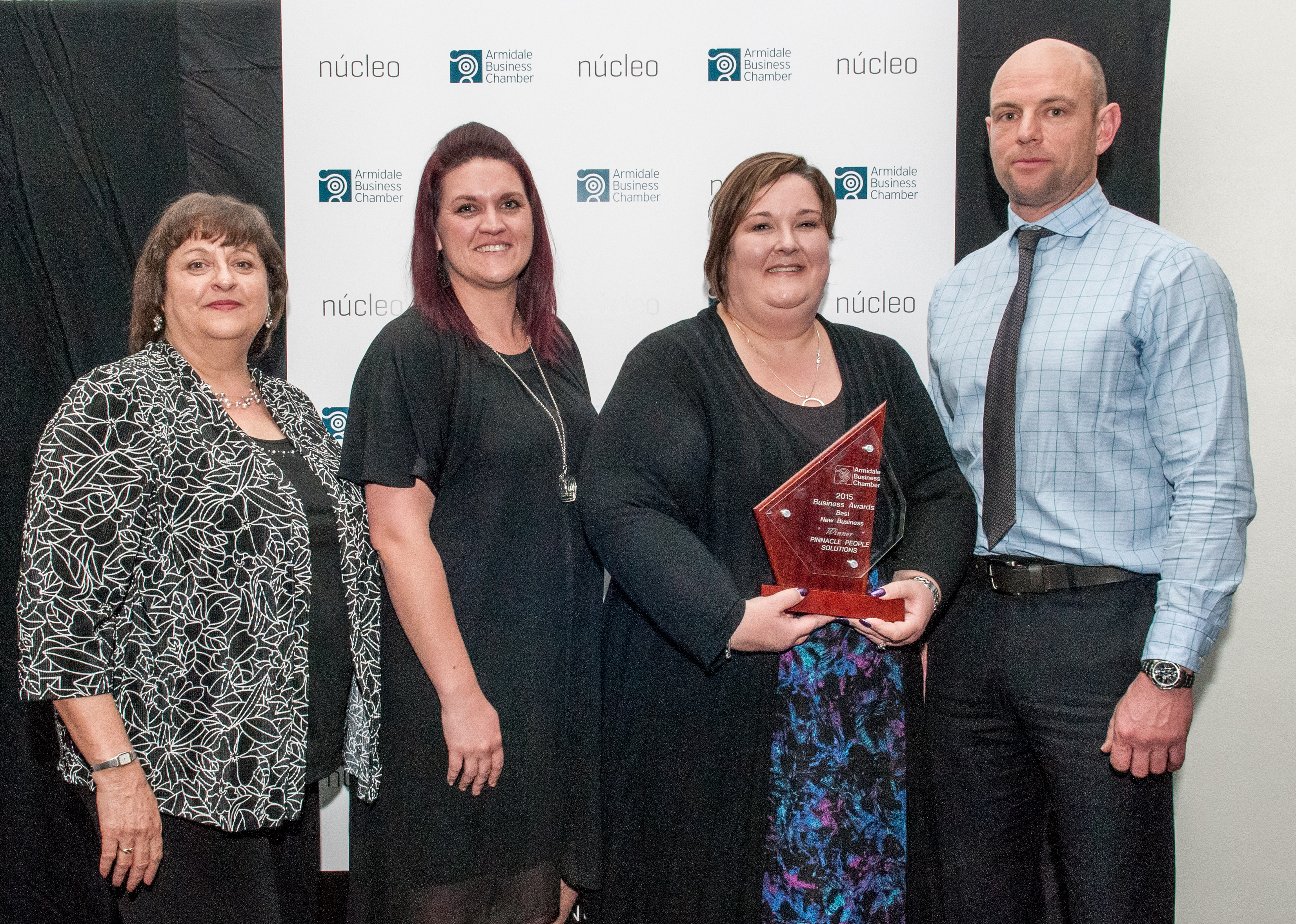 2015 Armidale Business Chamber Awards picture of PPS team and Sponsor Andrew Hall of Qantaslink