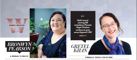 Screen capture Women in Business 2019 Bronwyn Pearson and Gretel Khan